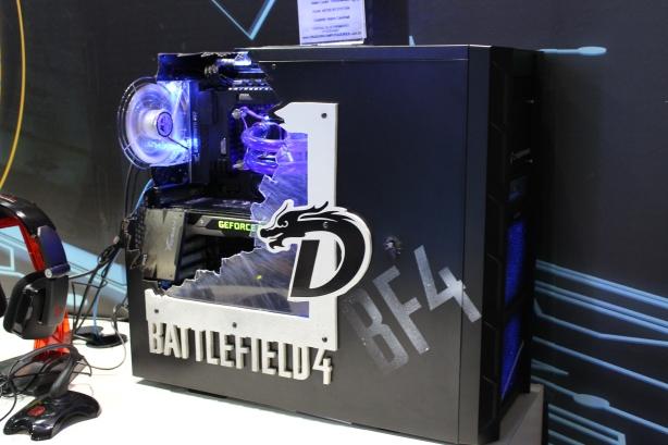 Ganhadora do Super Máquinas estava exposta no estande da Intel na BGS 2013 - Foto: Rafael Bugni Costa