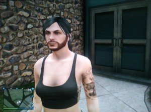 mulher barbada gta v