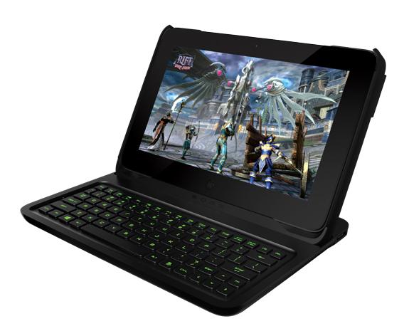 Acessório transforma o tablet gamer em notebook - foto: divulgação